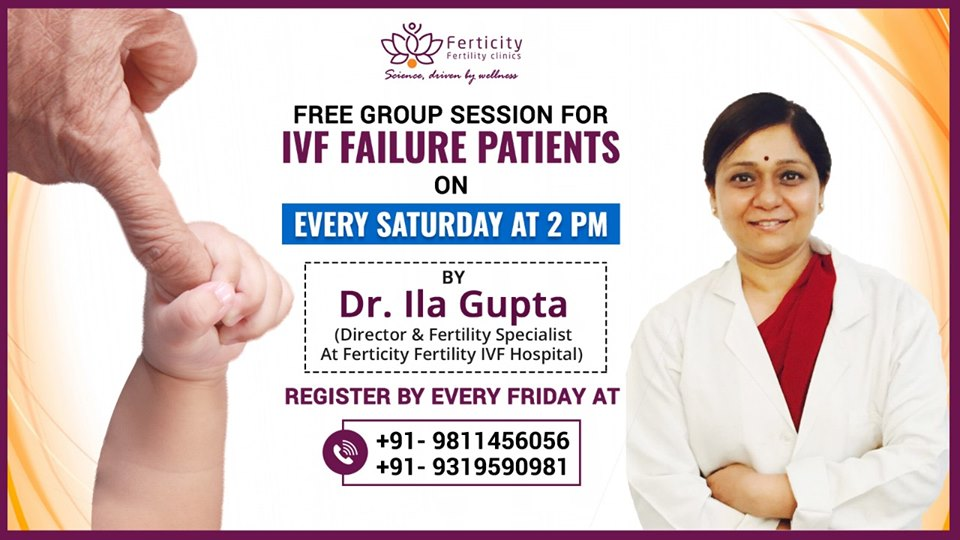 Free Group Session for IVF failure Patients on every Saturday at 2 PM